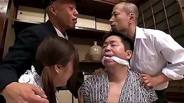 Japanese SchoolGirl Tied &amp_ Fucked Hard By Older Man &amp_ Gangbanged By His Captors