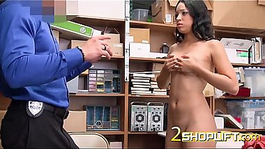 Amethyst is coerced into taking horny officers huge loaded cock