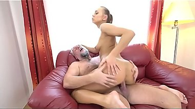 Horny Grandpa With Big Cock Loves Teen Pussy