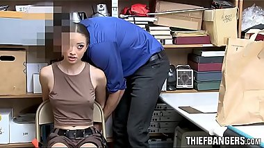 Hot Latina Shop Raider Strip-Searched &amp_ Fucked