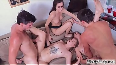 Double blowjob threesome first time Dorm Party