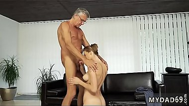 Teen tent festival and mother boss'_ compeer play games Sex with her