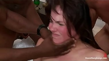 BoundGangBangs - Bobbi Starr DP Frogtied Anal Part 1 (More on TeenPornMaster)
