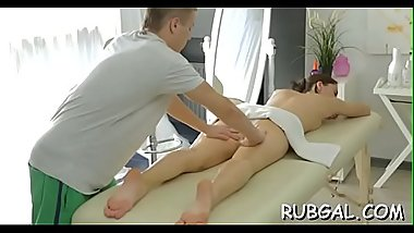 Slender nymph needs a relaxing and perverted massage session