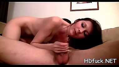 Tiny sweetie demonstrates her oral-service and banging skills